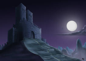 Digital Painting Exercise 3: Castle on the Mount. by A3DNazRigar