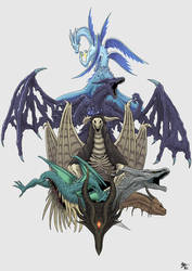 The Dragons of Dark Souls by A3DNazRigar