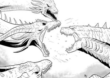 King of the Monsters: Godzilla vs Ghidorah by A3DNazRigar