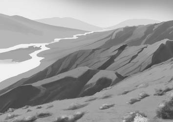 Speed Painting Exercise - Mountainscape by A3DNazRigar