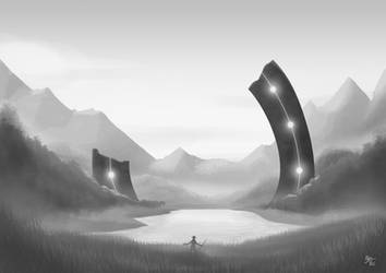 Speed Painting Exercise - Ruined Portal by A3DNazRigar