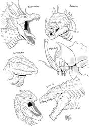 Monsterverse-Styled Kaiju Portraits