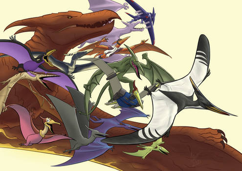 A Terrific Troupe of Pteranodons