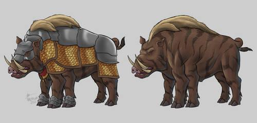 Commission - Battle Boar