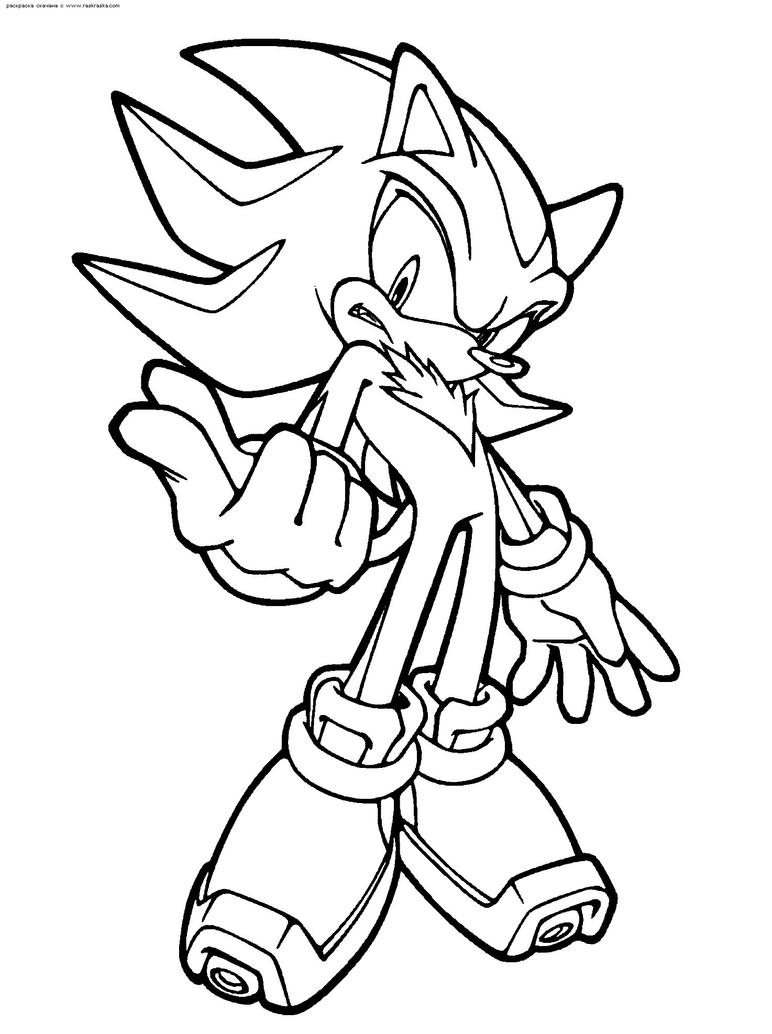 Shadow The Hedgehog Coloring Page By ScourgeXNazo2