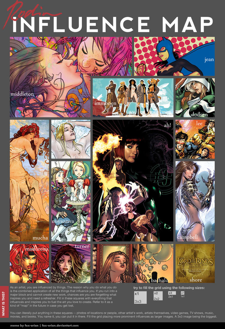 influence map by cakes