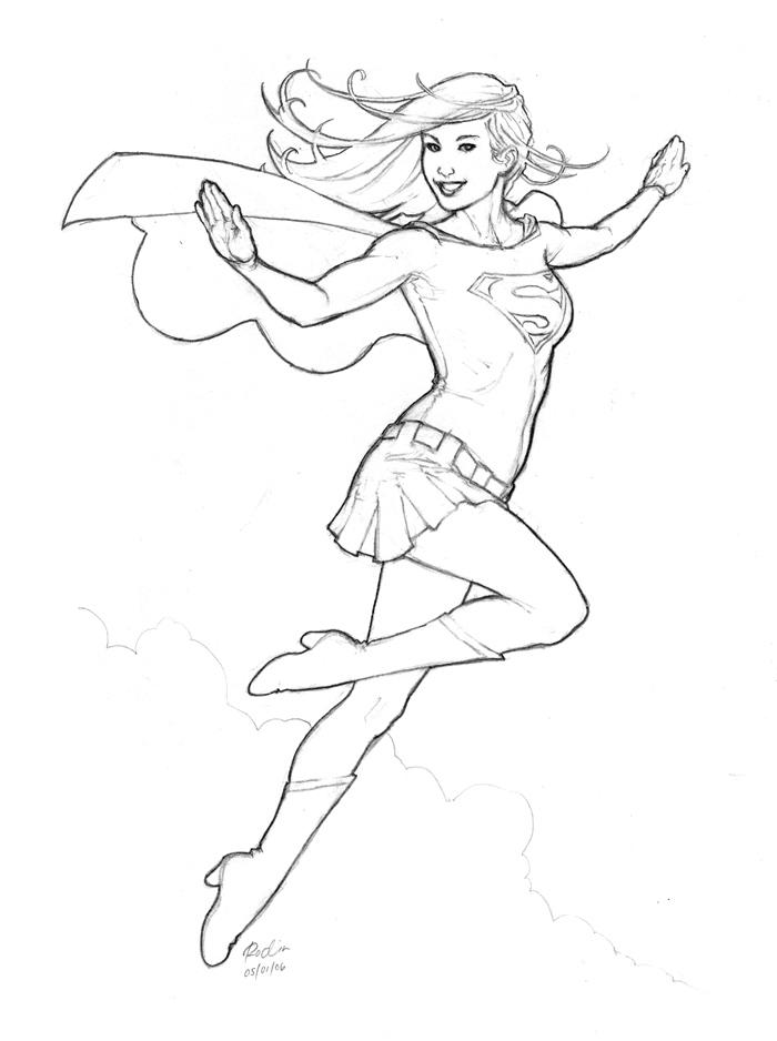 This is a photo of Divine Super Girl Coloring Pages