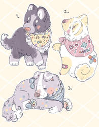 (2/3 open) Puppy adopts