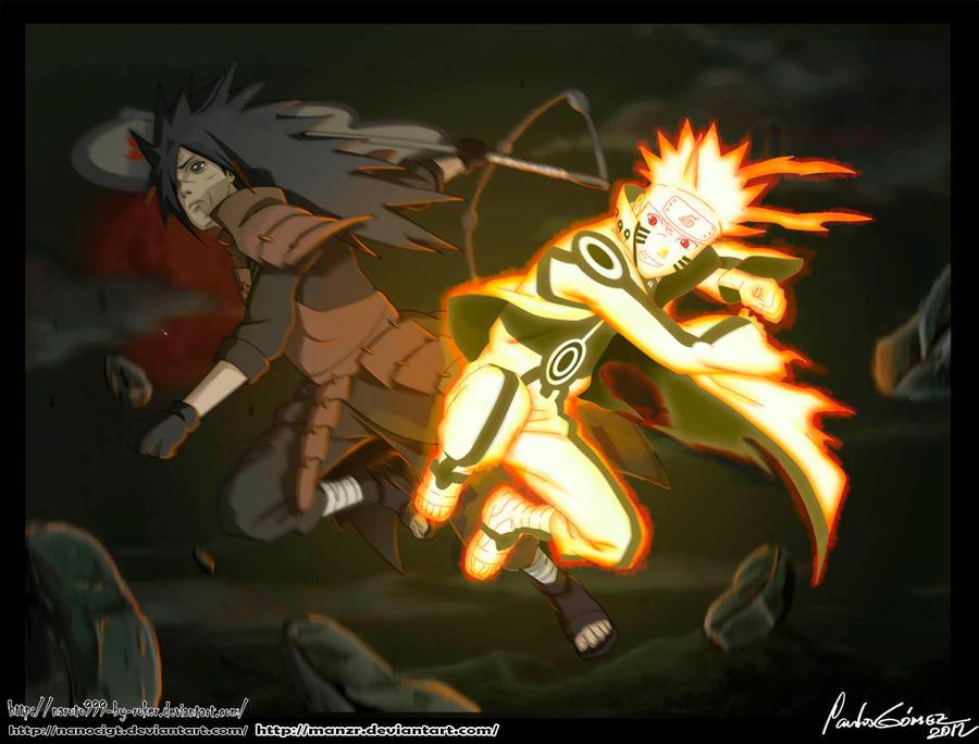 Epic Battle: NARUTO VS MADARA by NanoCigT