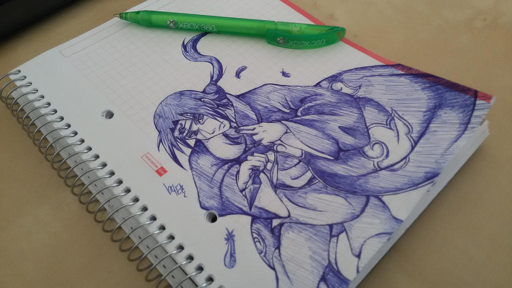 Itachi scribble by Chillovery