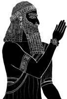 Assyrian Priest by riverbernal