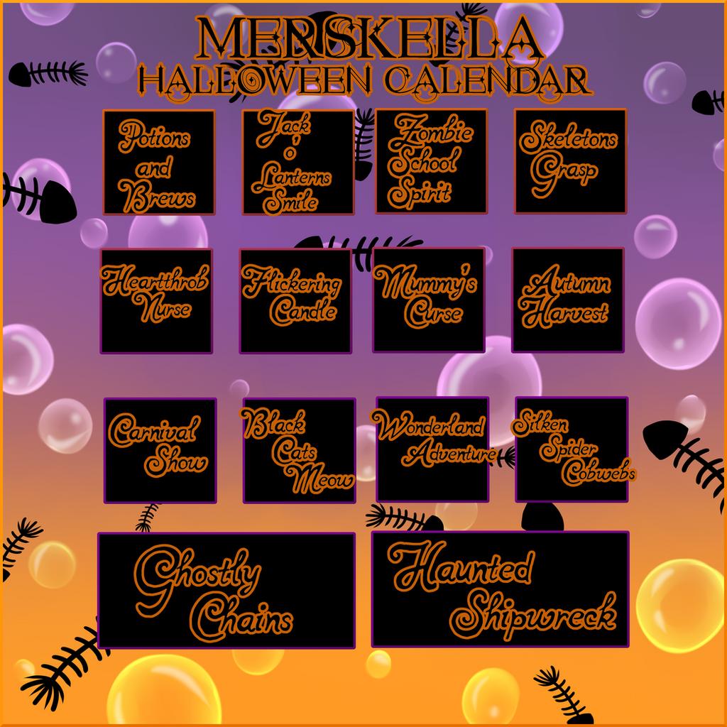 Calendar Wallpaper Quill : Merskella halloween calendar closed by crystalquill