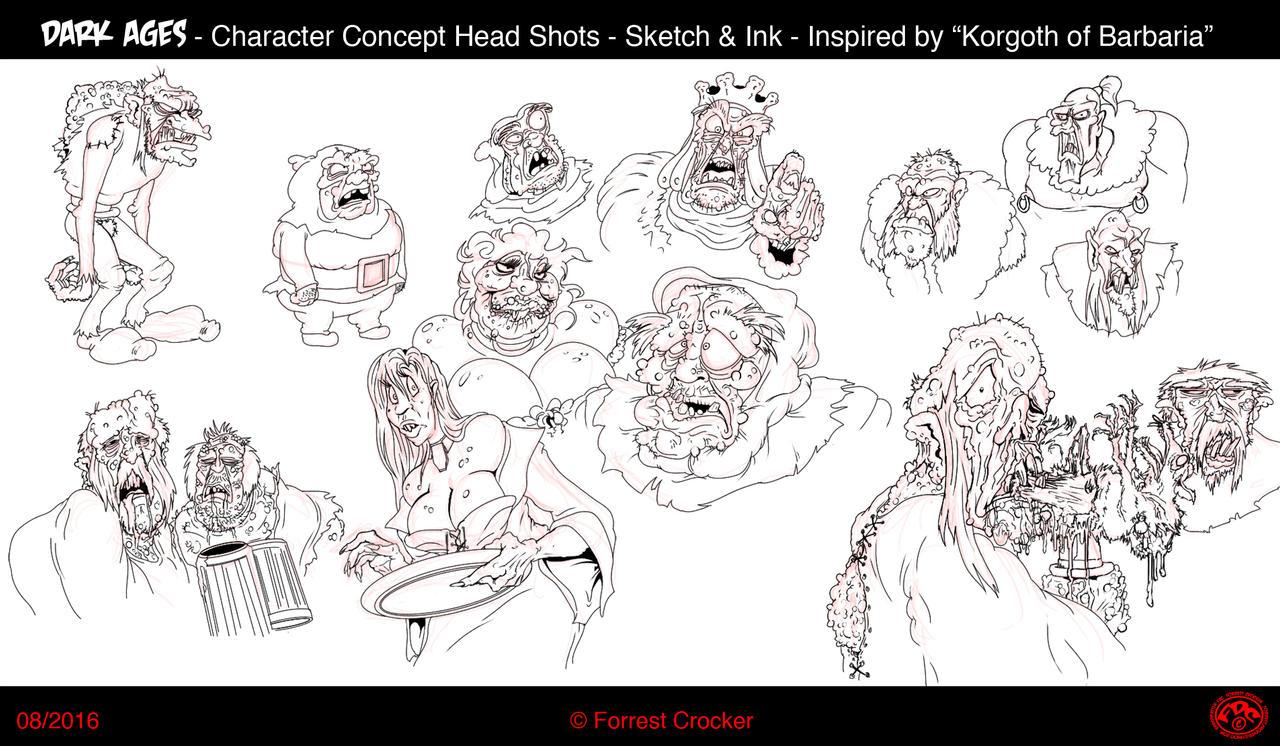 Dark Ages Sketch n Inks by GrandMasterFDC
