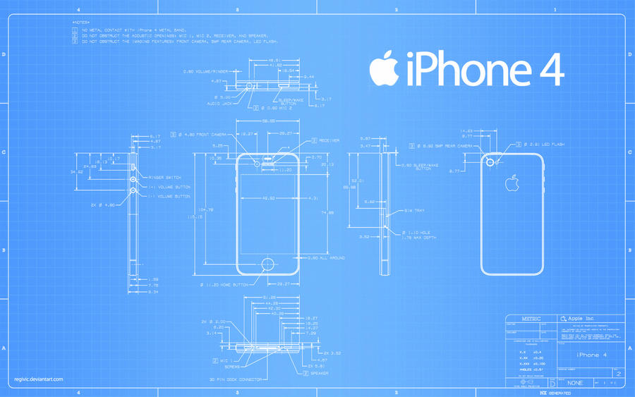 iPhone 4 Blueprint - 2560x1600 by Regivic