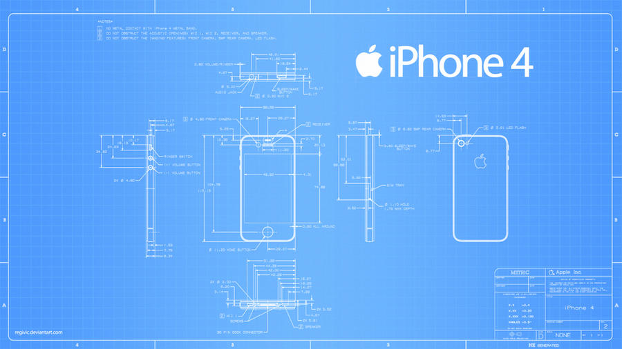 iPhone 4 Blueprint - 2560x1440 by Regivic