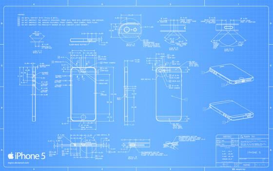 iPhone 5 Blueprint - 2560x1600