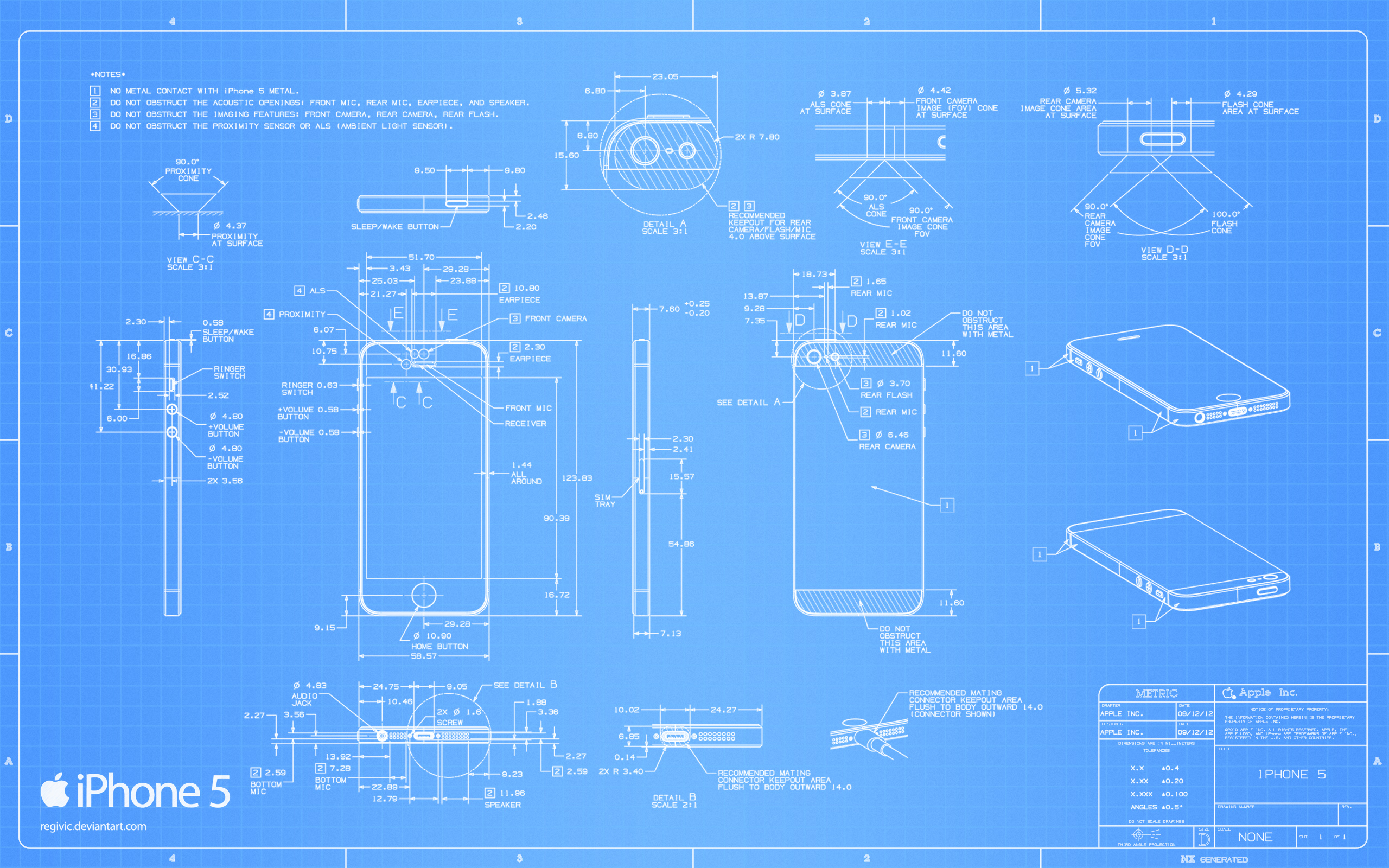 Iphone 5の図面がmac用の壁紙になった Apps Core