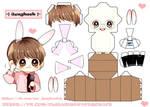 BTS Jeon Jungkook papercraft chibi