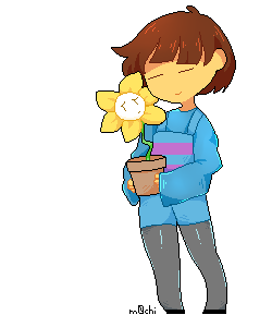 frisk with flowey by 6oys