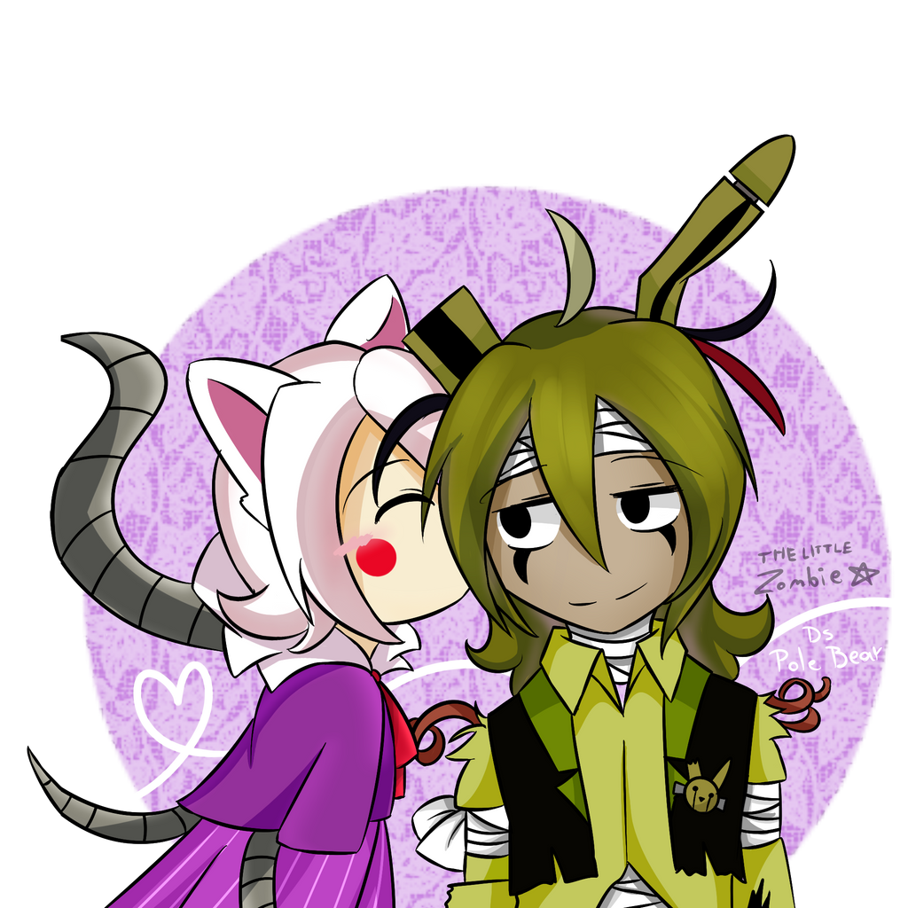 Springtrap And Mangle By JustALittleZombie On DeviantArt