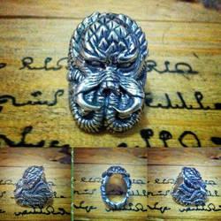 Cthulhu Predator Silver Ring