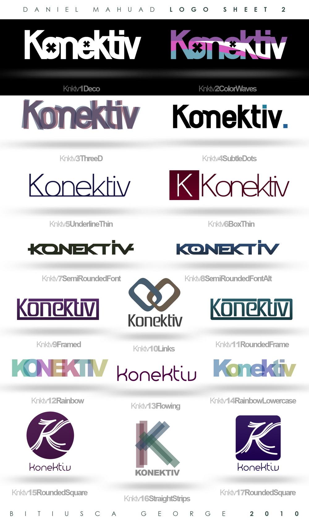 Konektiv - LogoSheet 2 by Horhew