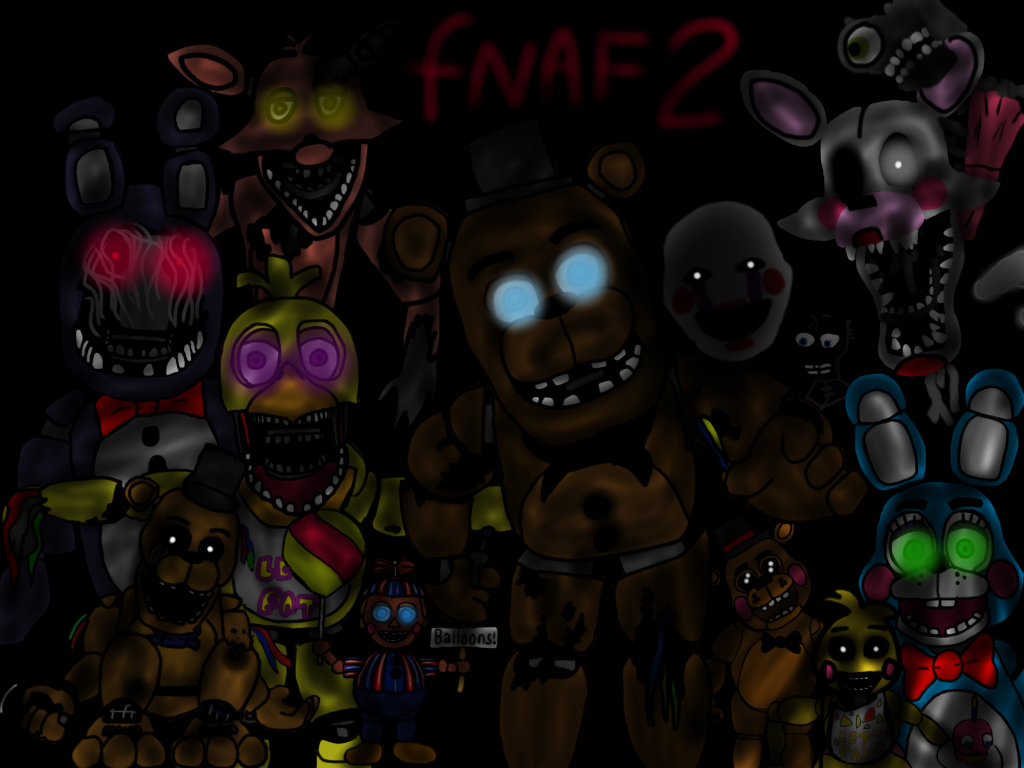 All animatronics from five nights at freddy s by svannahzgaming1 on