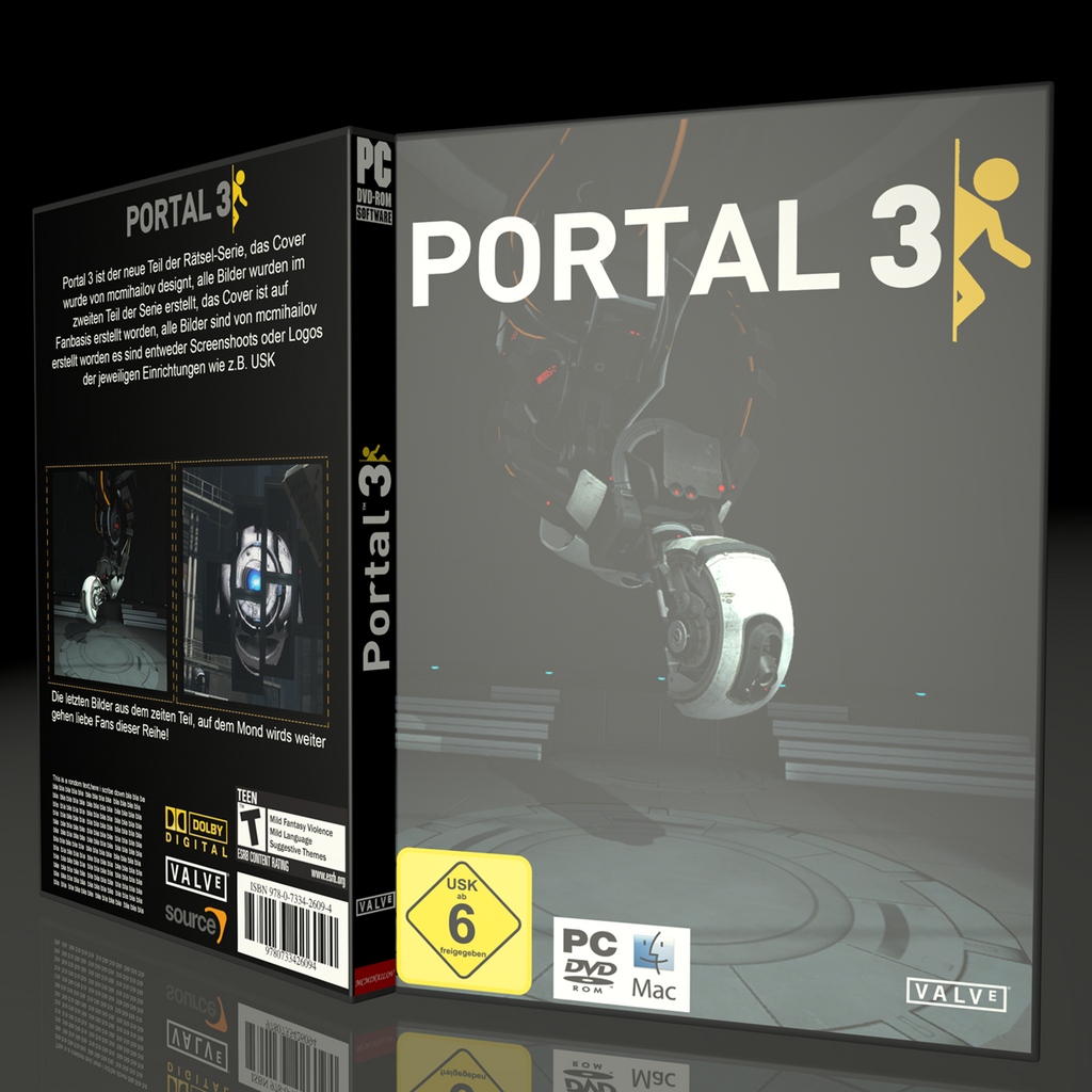 portal 3 cover fanmade by mcmihailov on deviantart