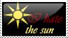 I hate the sun stamp by darkemyst