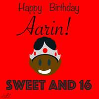 AARIN BIRTHDAY Poster