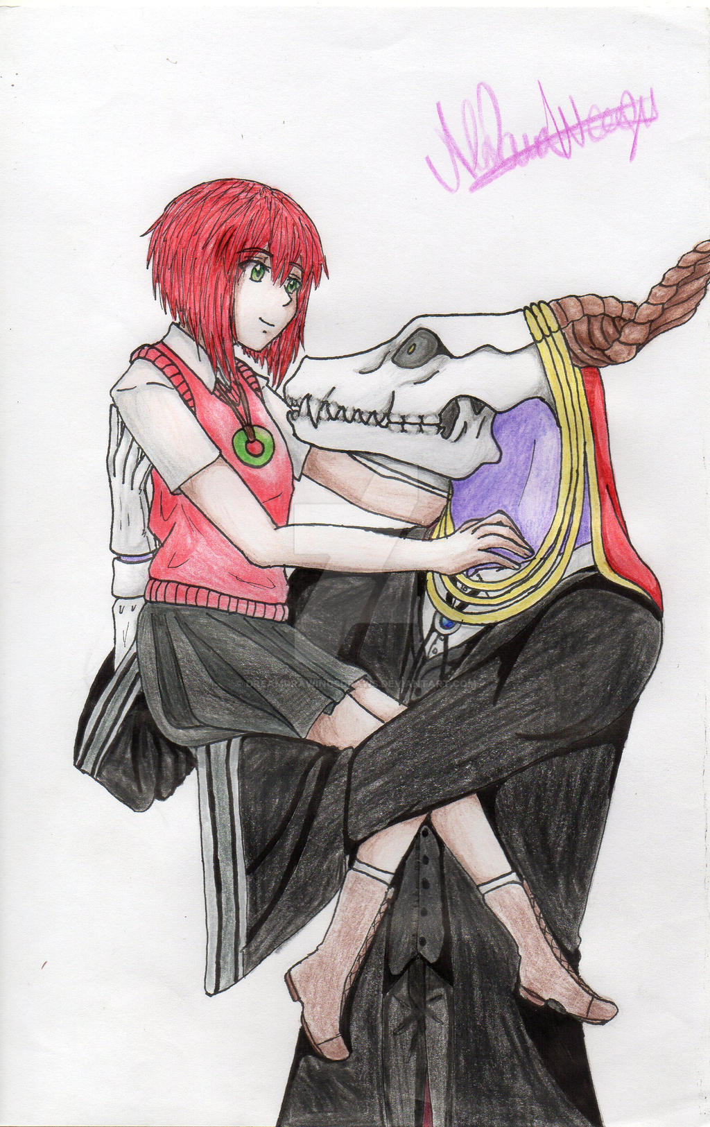 elias x chise by dreamdrawingsdraws on deviantart