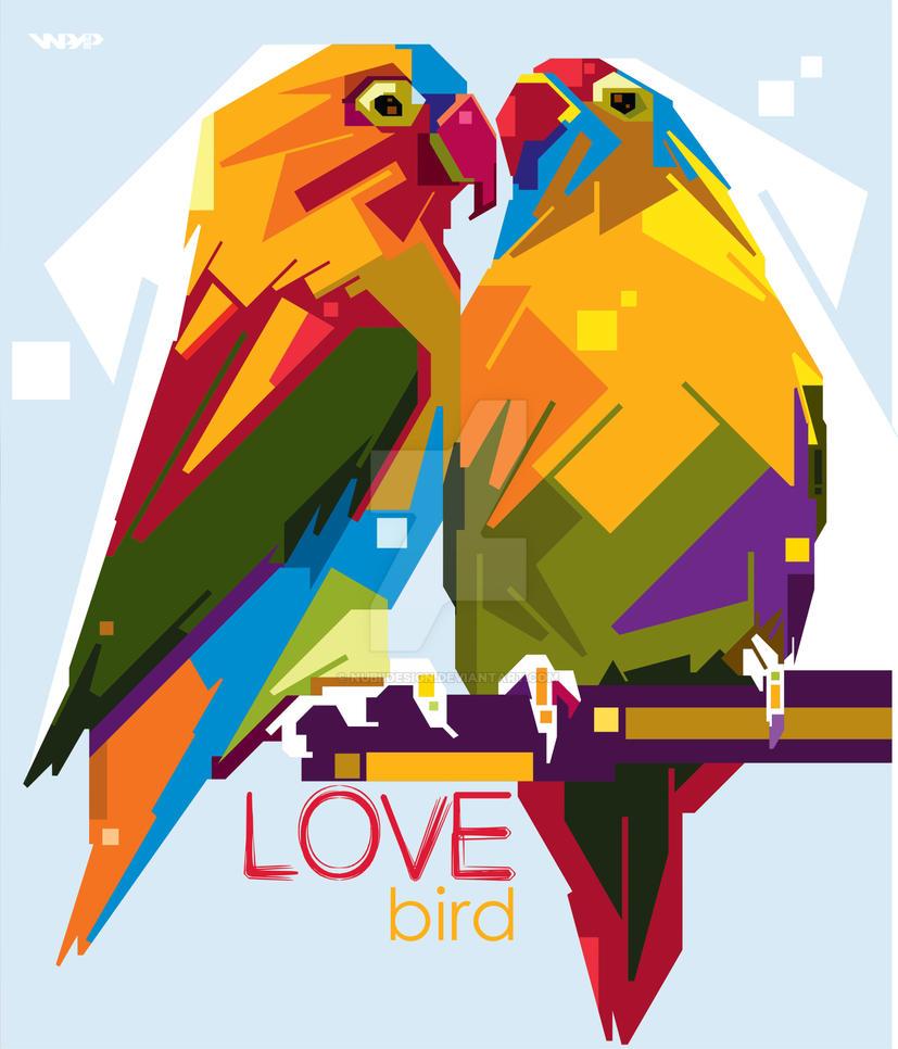 Love Bird In Anomali Wedha's Pop Art Potrait By