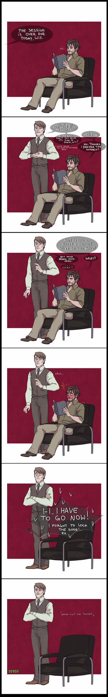 HANNIBAL: don't forget to return the book! by RinGreen