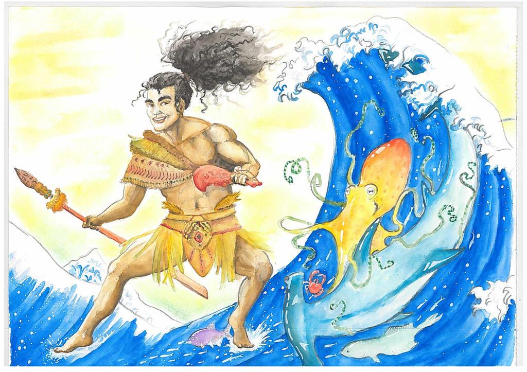 Tangaroa, God of the Sea by Malaurielle