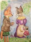 Mr.Fox, have you seen my husband?