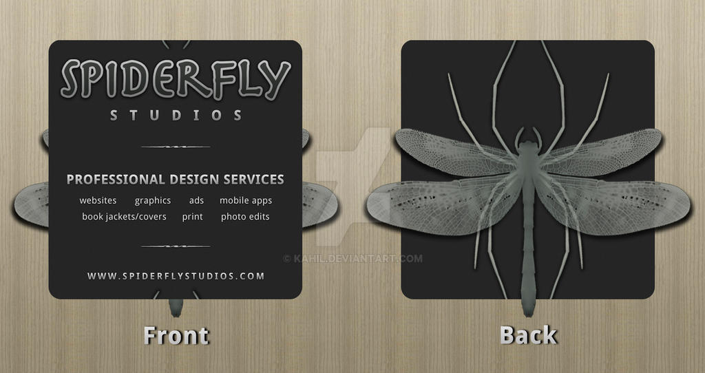 Spiderfly Studios Bus. Cards by kahil