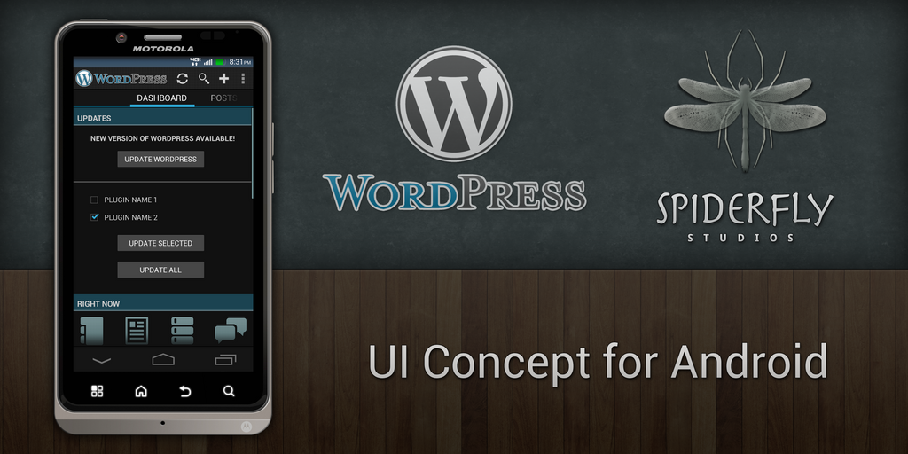 WordPress for Android v2 by kahil