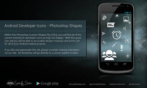Android Developer Icons - Photoshop Shapes