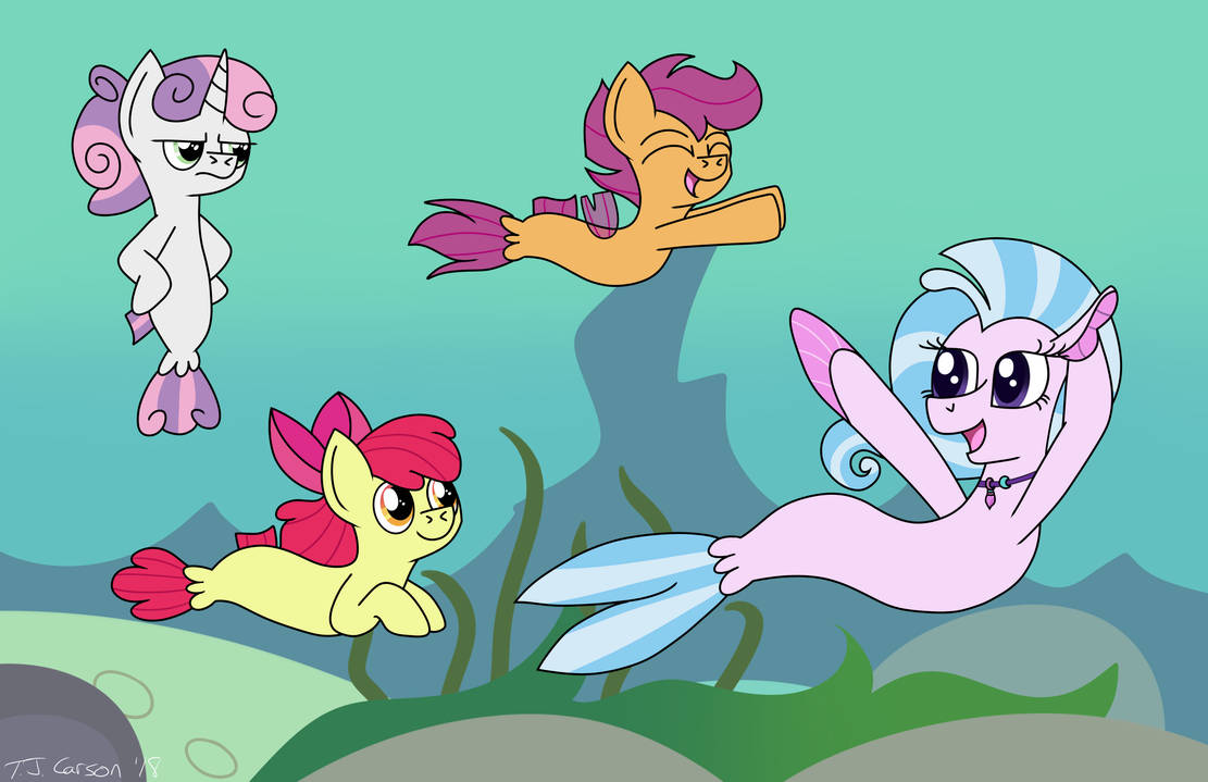 Swimming with the CMCs by toonboy92484