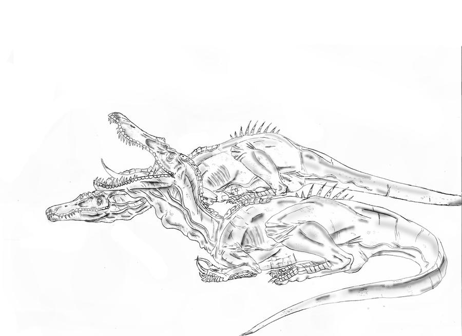 Baryonyx walkeri by durbed on deviantart for Utahraptor coloring page