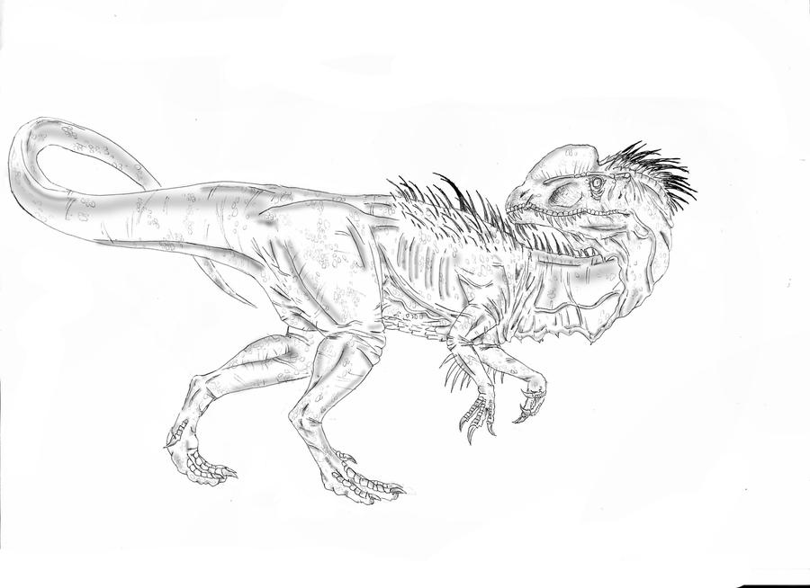 Jurassic park free colouring pages for Jurassic park coloring page