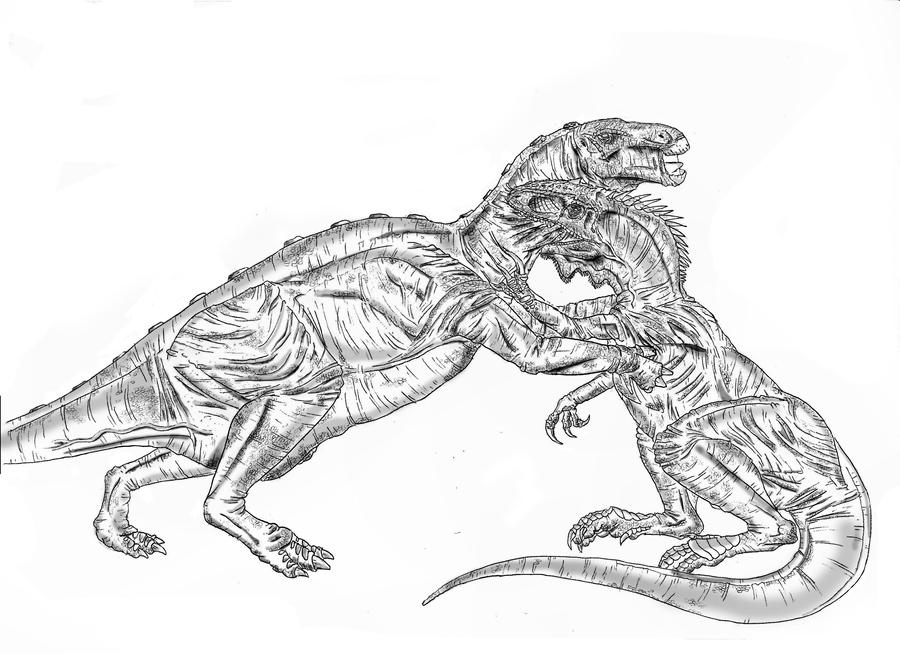 Deadly embrace by durbed on deviantart for Iguanodon coloring page