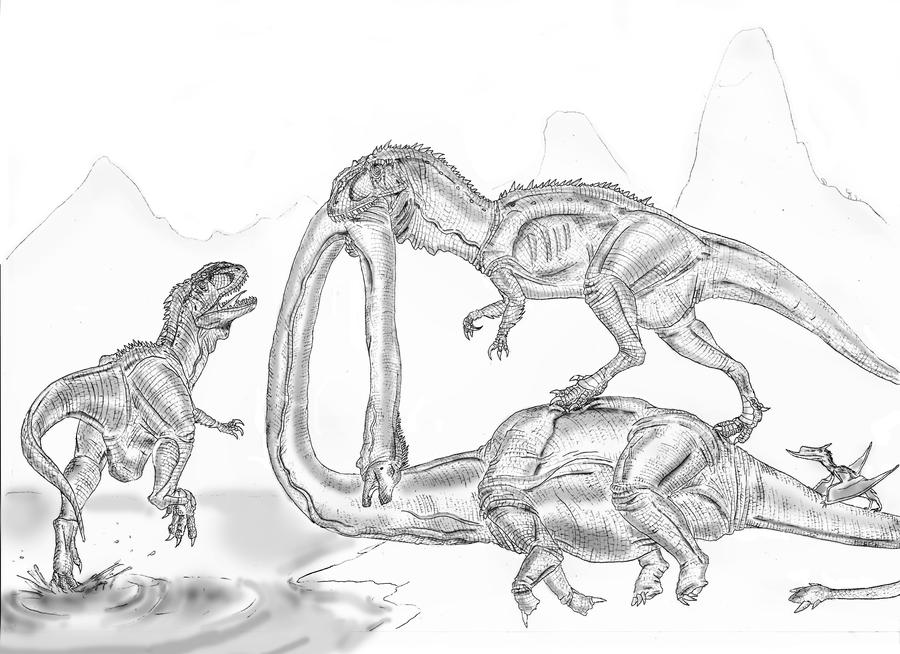 Yangchuanosaurus shangyouensis by Durbed on DeviantArt Yangchuanosaurus Coloring Page