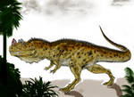 Ceratosaurus the horned beast