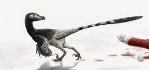 The Christmas Velociraptor by Durbed