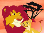 Little Kiara and Simba by disneyfangirl774