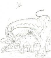 Apatosaurus by hyphenatedsuperhero