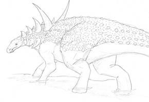 Sauropelta by hyphenatedsuperhero