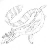 Tylosaurus by hyphenatedsuperhero
