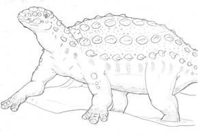Panoplosaurus by hyphenatedsuperhero